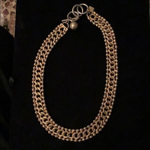Anne Klein gold toned chain necklace